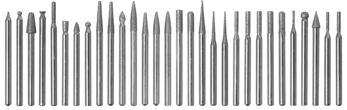 10Pc DIAMOND BURR ROTARY TOOL BIT SET Dremel Engraving Tiles Stone Glass Wood