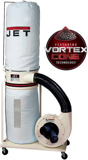 Jet 1-1/2 HP Dust Collector with Bag DC1100VX-BK