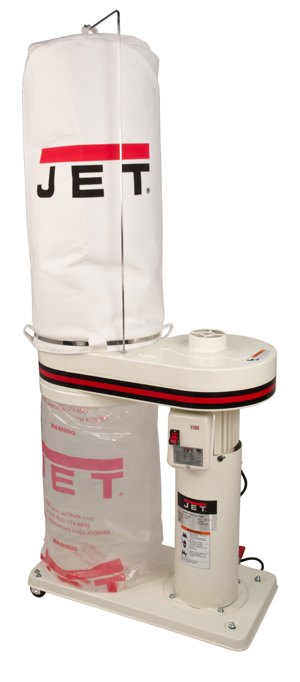 1HP Dust Collector with 5M Bag Filter Kit - DC650