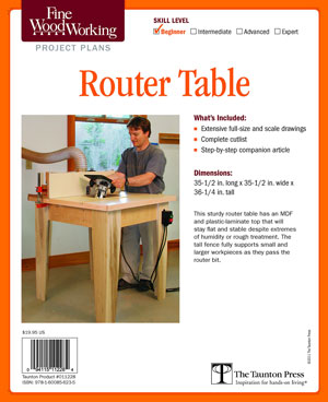 Open Base Router Table Project Plan
