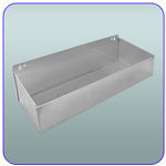 "18"" x 5"" x 2-15/16"" Steel Storage / Tool Tray - Vented Bottom"
