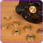 9 Piece Router Bushing Reducer Set