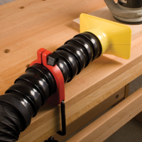 Universal Linked Dust Hose Mount with Hose, Table Clamp and dust nozzel