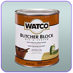 Watco's specially formulated Butcher Block Oil & Finish allows for easy and safe maintenance of wooden butcher blocks, cutting boards, salad bowls and other items which require a food safe finish.