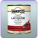 WATCO Lacquer Clear Wood Finish is the finest brushing lacquer available.
