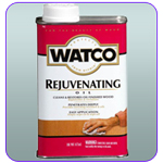WATCO Rejuvenating Oil restores beauty, warmth and luster to previously oil-finished surfaces.