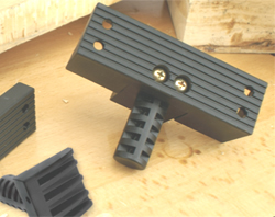 "The low profile bench dogs fit neatly into 3/4"" holes on workbenches to create a stop on the opposite end of your vise."