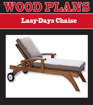 Lazy-days Chaise Lounge Woodworking Plan