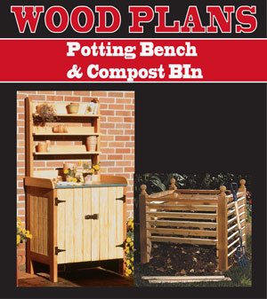 Potting Table & Compost Bin Woodworking Plans
