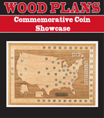 Commemorative Coin Showcase Woodworking Plan