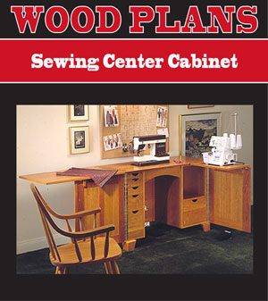 woodworking plans for sewing cabinet