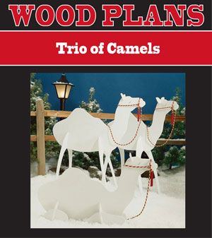 Trio of Camels Woodworking Plan