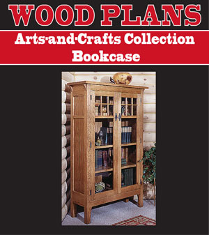 arts and crafts bookcase plans