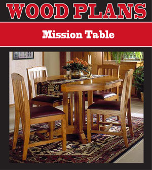 Mission Table Woodworking Plan