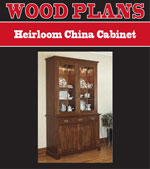 Heirloom China Cabinet Woodworking Plan