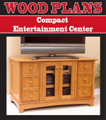 Compact Entertainment Center Woodworking Plan