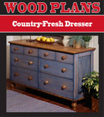 Country-Fresh Dresser Woodworking Plan