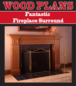 Fabulous Fireplace Surround Woodworking Plan