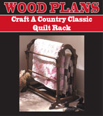 Craft A Country Classic Quilt Rack