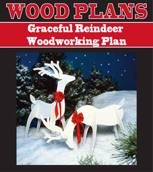 Outdoor Wooden Reindeer Pattern