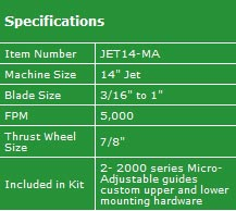 "The Carter Jet 14"" Micro-Adjust upgrade kit"
