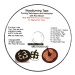 Woodturning Tops DVD by Ron Brown