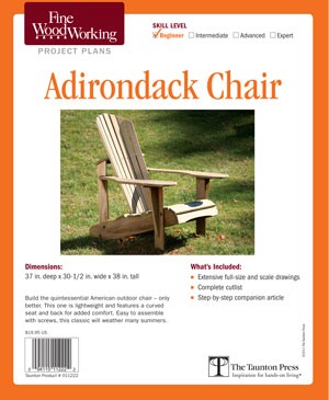 fine woodworking adirondack chair plans