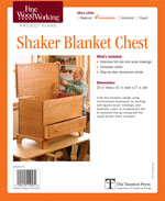 Shaker Blanket Chest Project Plan
