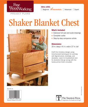 shaker blanket chest plans