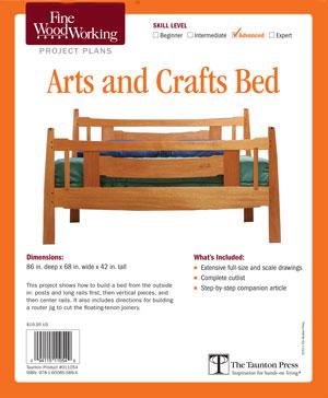 Fine woodworking bed frame plans