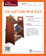 Arts and Crafts Bookrack Project Plan