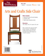 Arts and Crafts Side Chair Project Plan