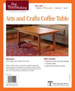 Arts and Crafts Coffee Table Project Plan