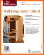 Fine Woodworking Corner Cabinet Project Plan