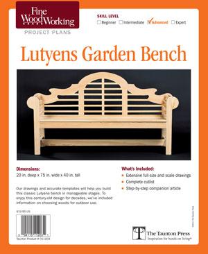 lutyens bench plans free