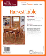 Fine Woodworking Harvest Table Project Plan