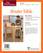Fine Woodworking Open Base Router Table Project Plan