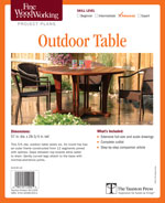 Fine Woodworking Outdoor Table Project Plan