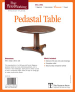 Fine Woodworking Pedestal Table Project Plan