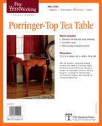 Fine Woodworking Porringer-Top Tea Table Project Plan
