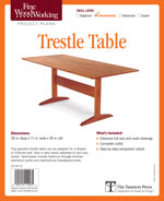Fine Woodworking Trestle Table Project Plan
