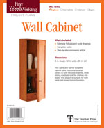 Fine Woodworking Wall Cabinet Project Plan