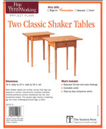 Two Classic Shaker Tables Plan