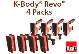 Bessey K-Body Revo Clamp four packs